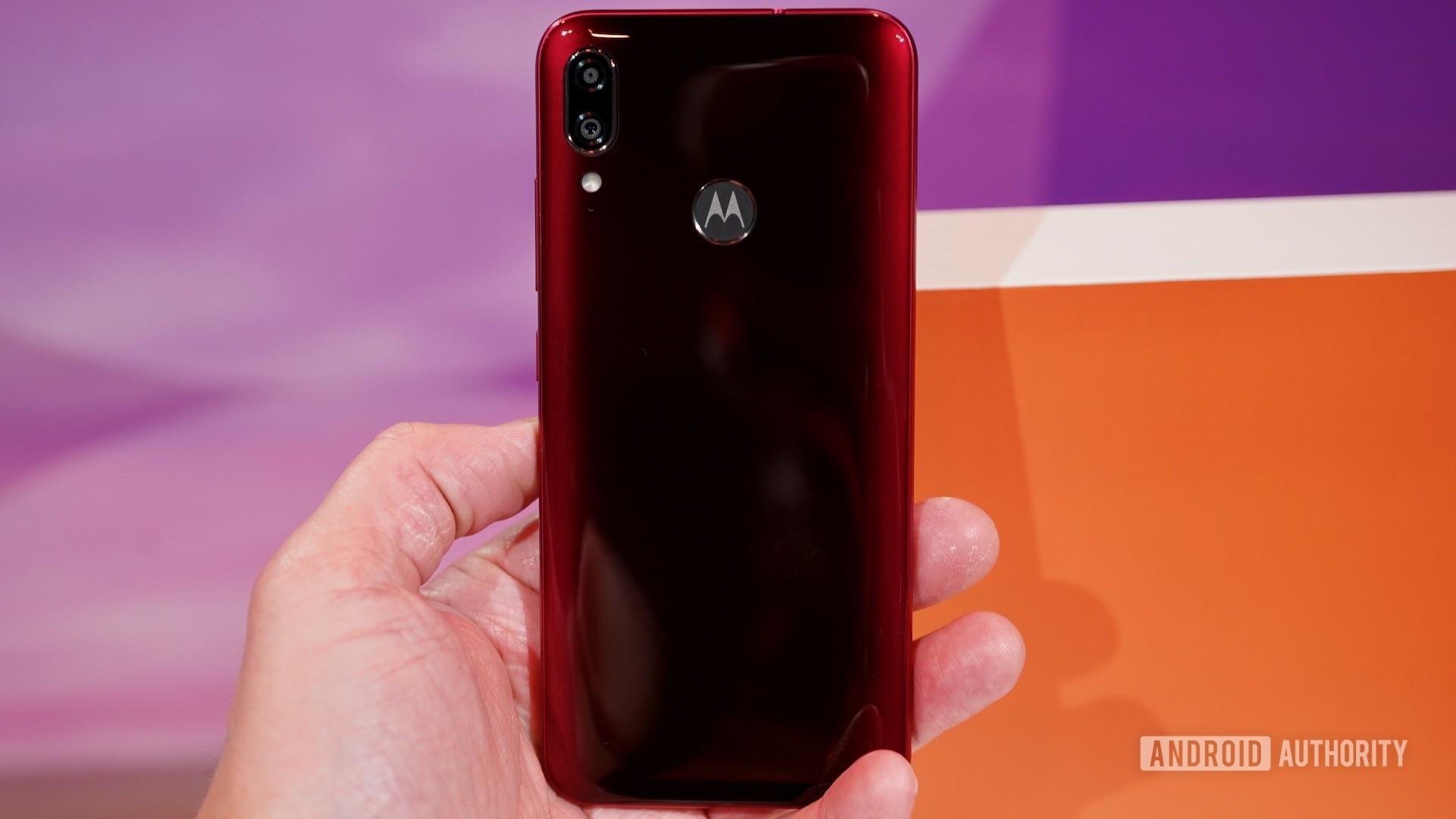 Motorola Moto E6 Plus rear view
