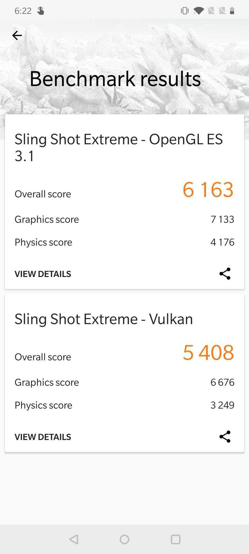 OnePlus 7T 3DMark scores