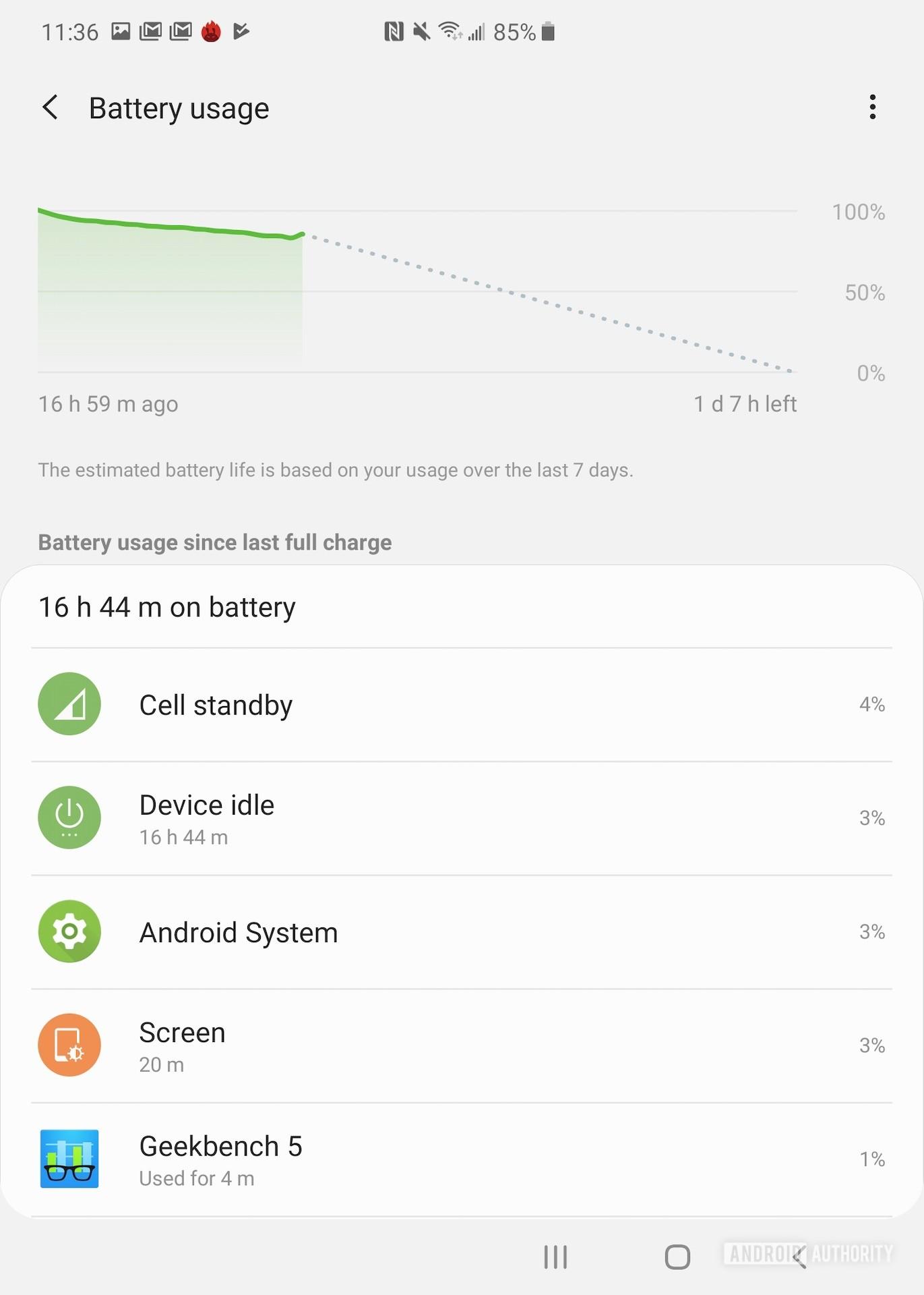 Samsung Galaxy Fold review Settings