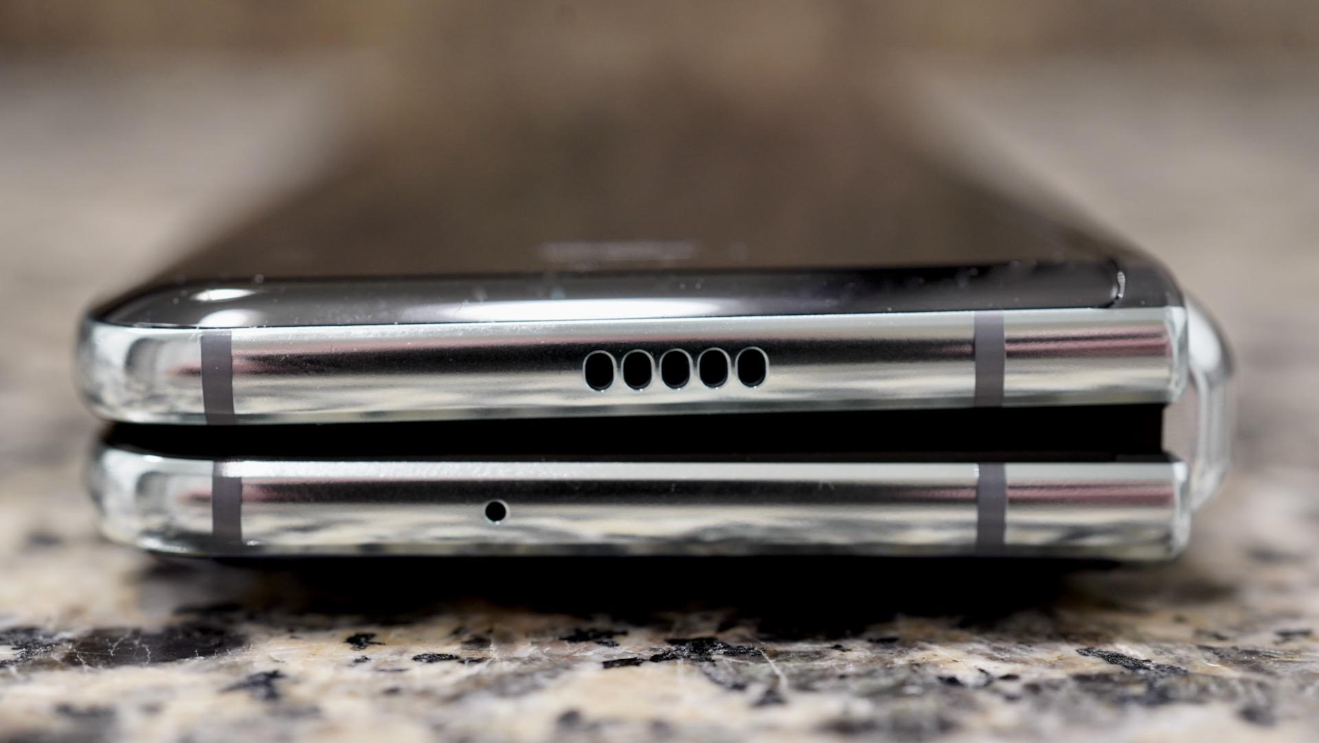 Samsung Galaxy Fold review top edge folded