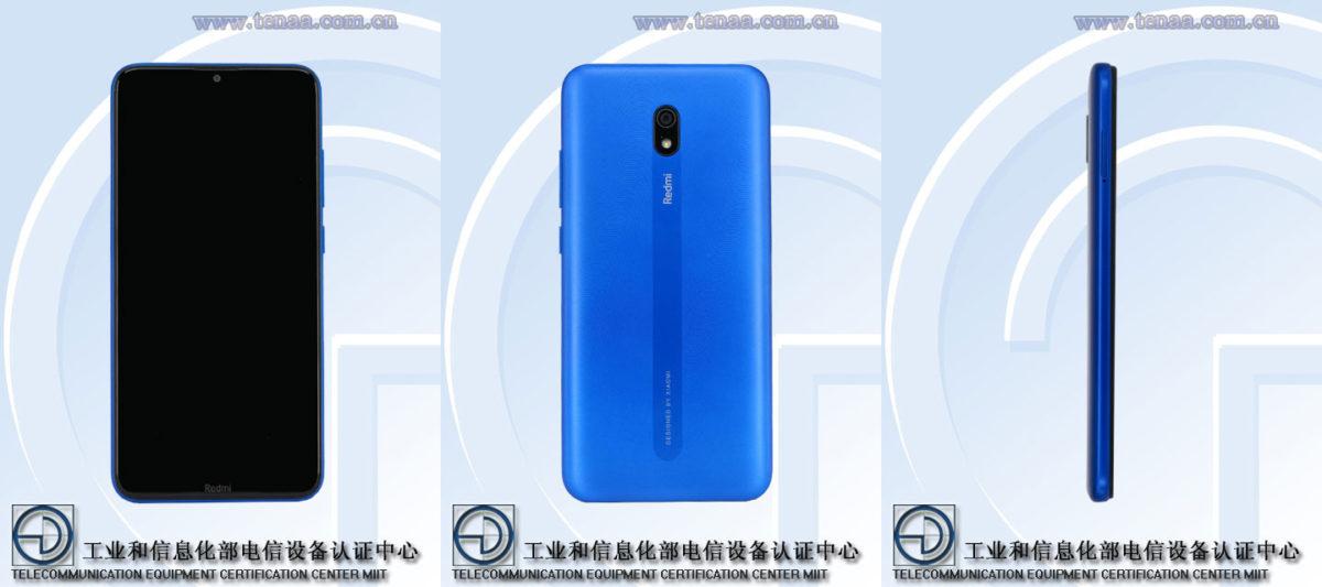 An apparent Xiaomi Redmi 8A on TENAA.