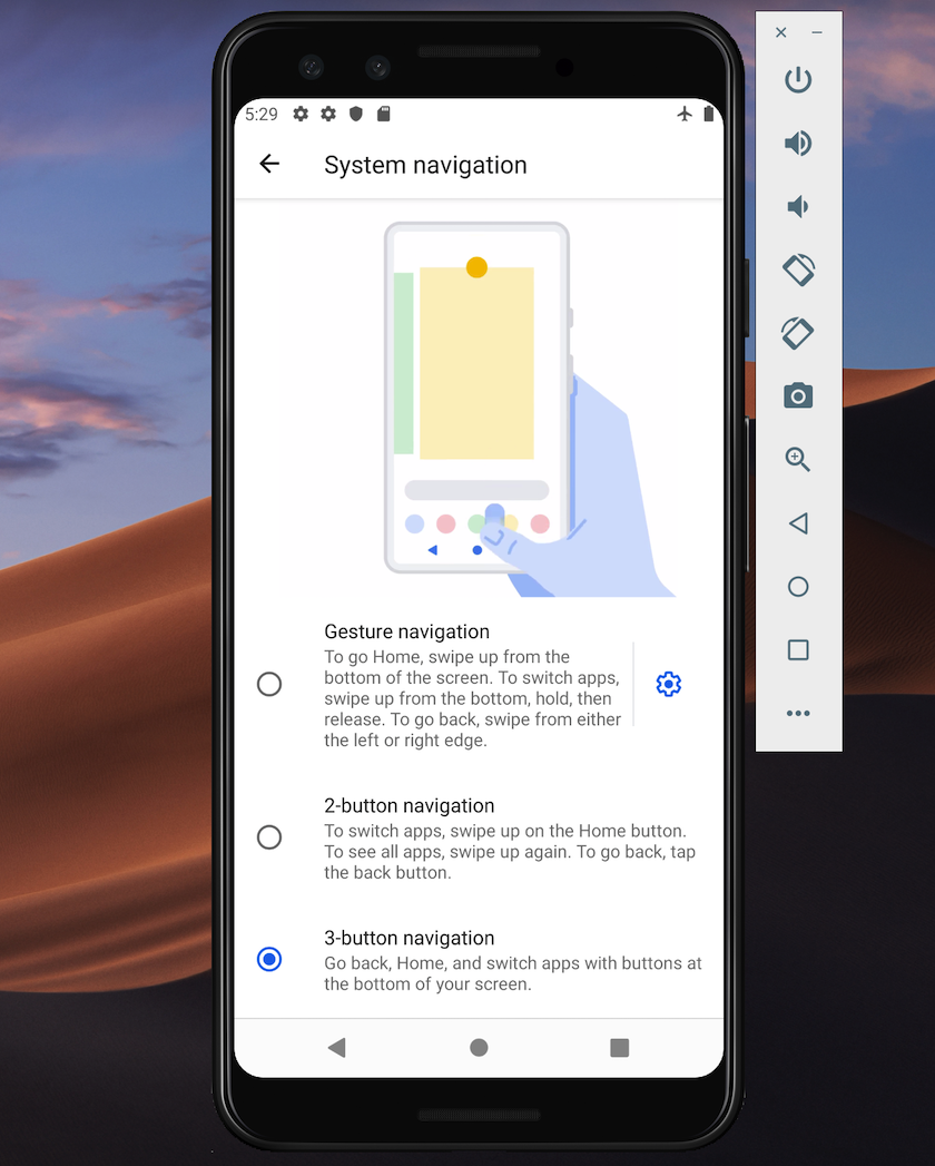 In Android 10, gesture-based navigation is the default.