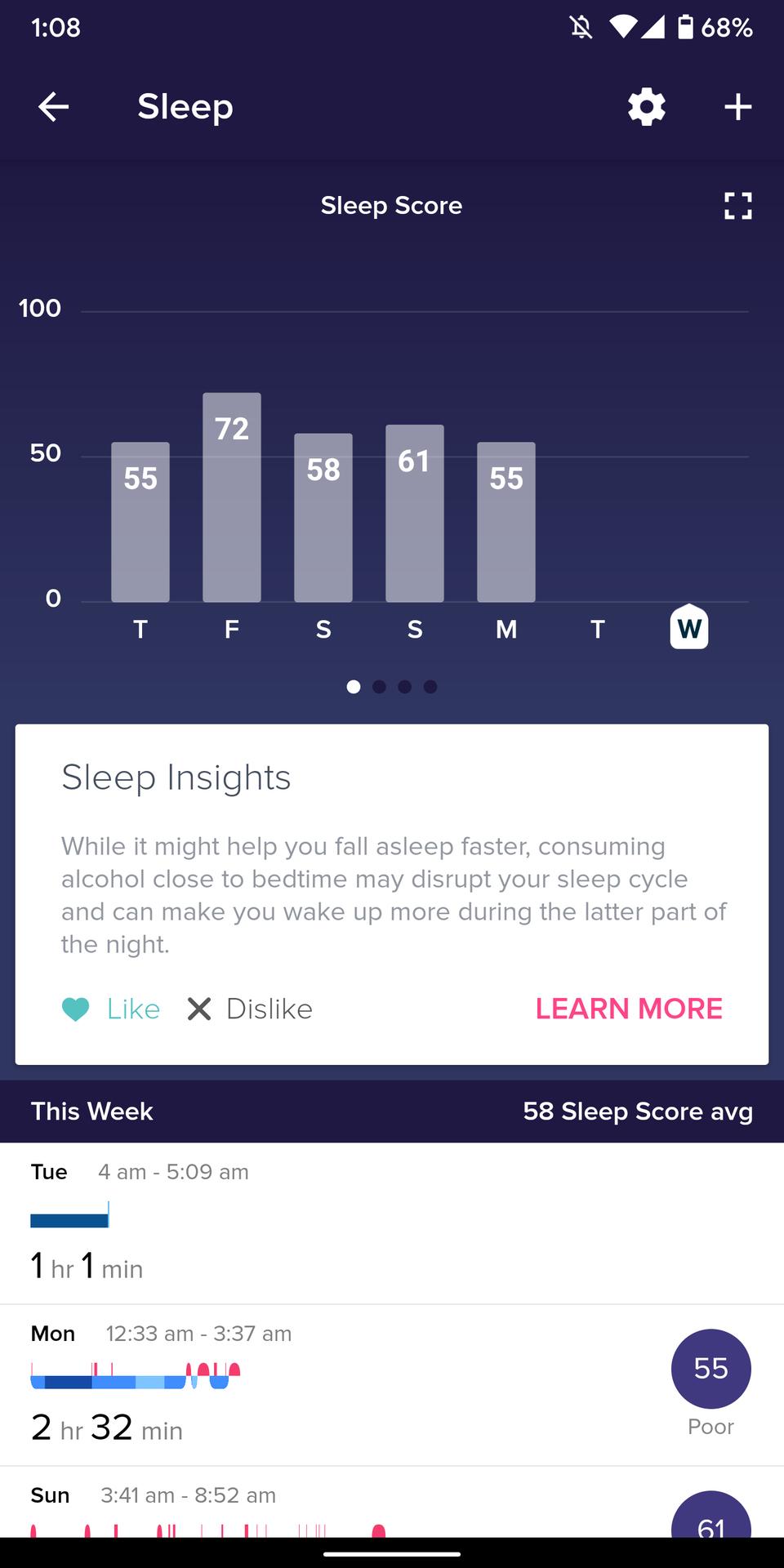fitbit versa 2 review sleep tracking sleep score in fitbit app 2