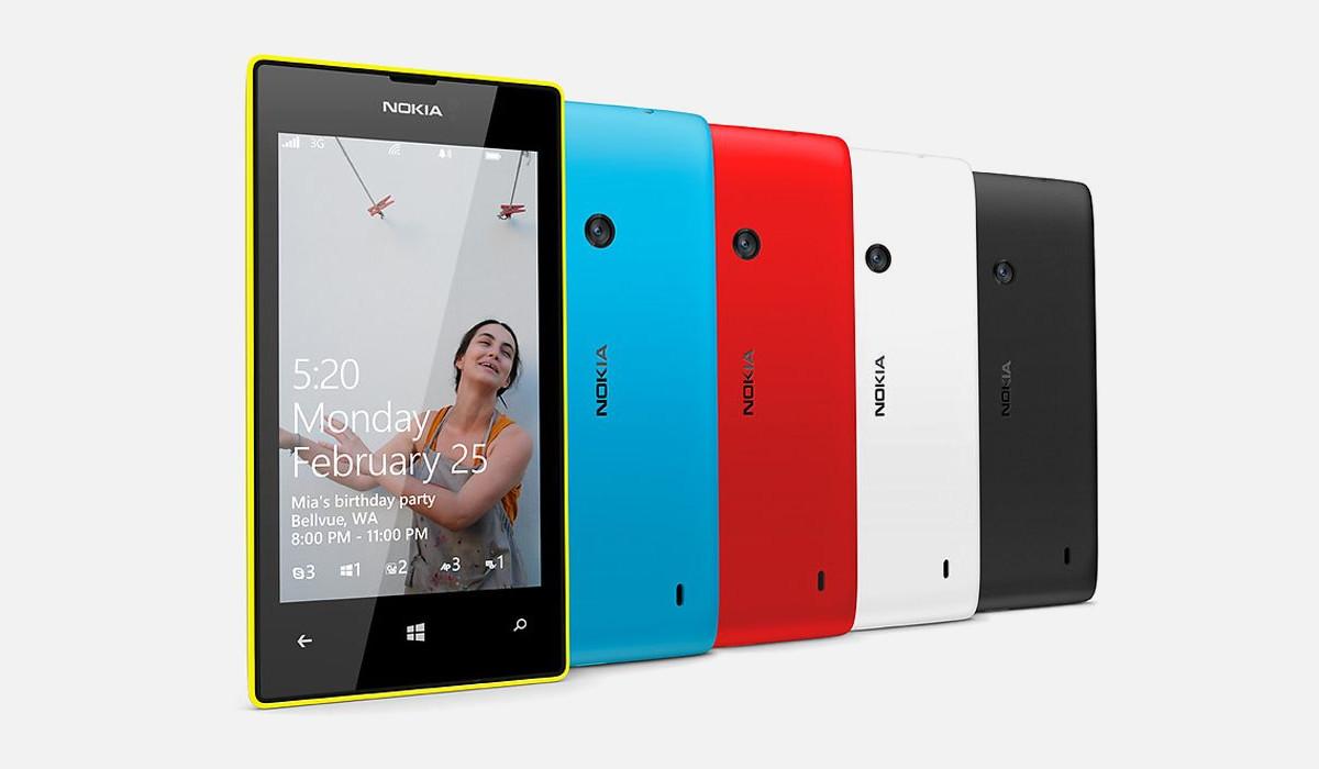 The Nokia Lumia 520.