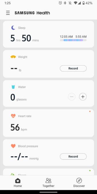 samsung galaxy watch active 2 review samsung health app screenshots 2