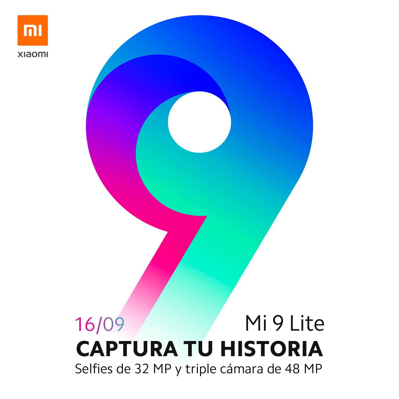 The Xiaomi Mi 9 Lite teaser page.