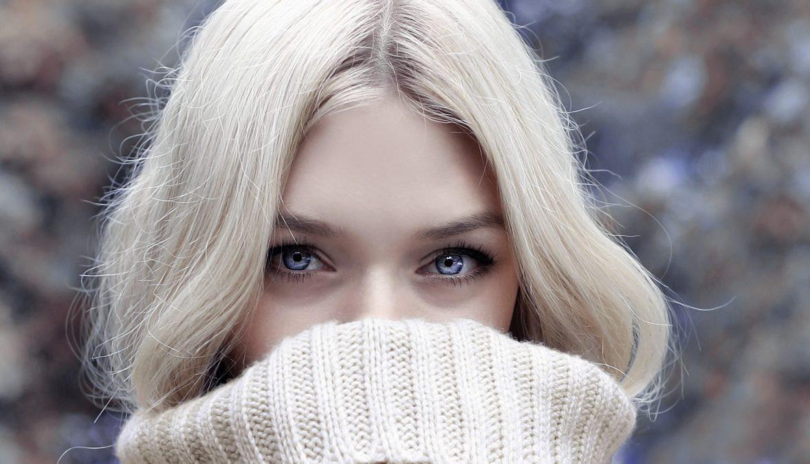 Beautiful woman in Adobe Photoshop or Lightroom