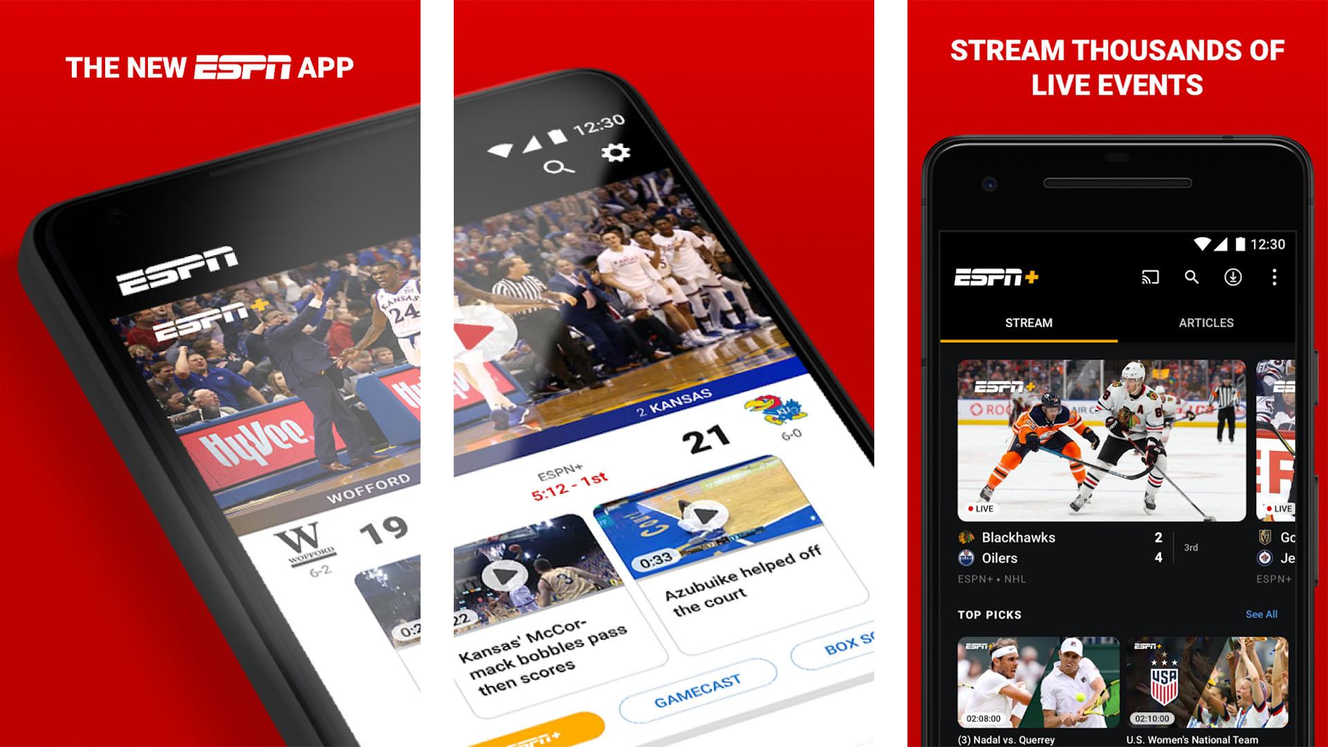 ESPN screenshot 2020