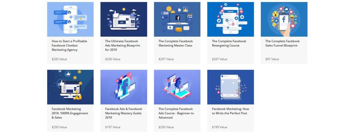 Facebook Marketing Master Class courses