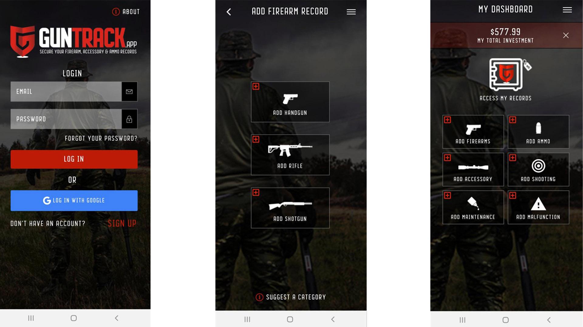 GUNTRACK screenshot 2020
