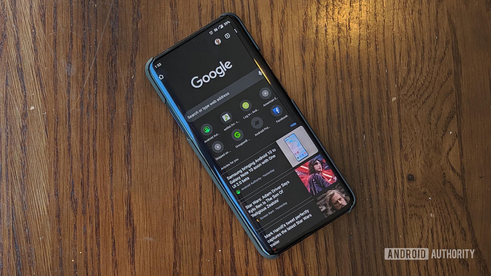Google Chrome 78 Dark Mode