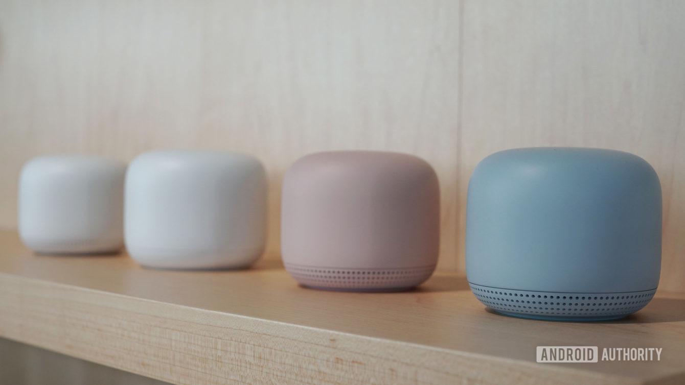 Google Nest Wi Fi color options