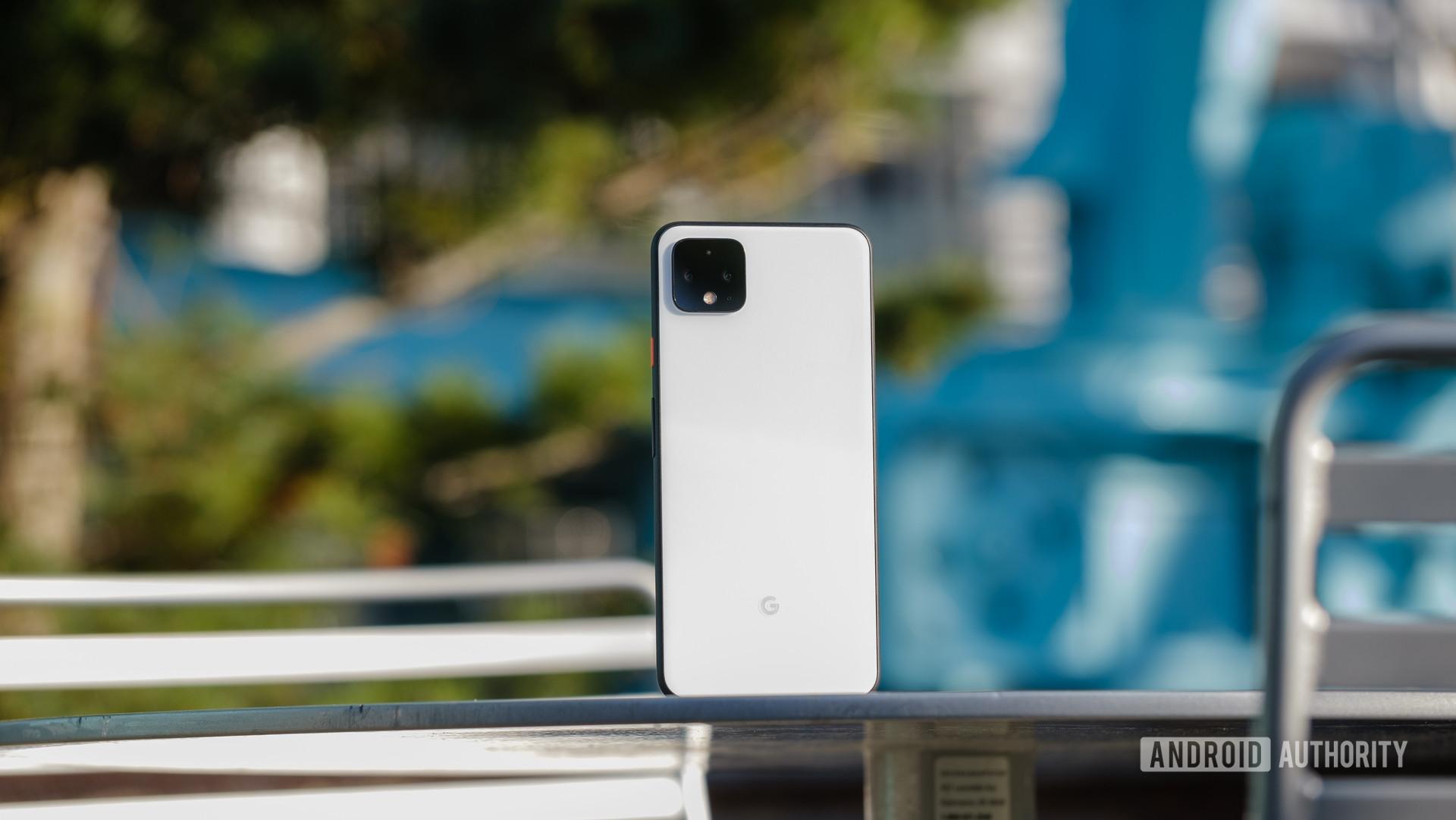 Google Pixel 4 XL back panel on a table 6