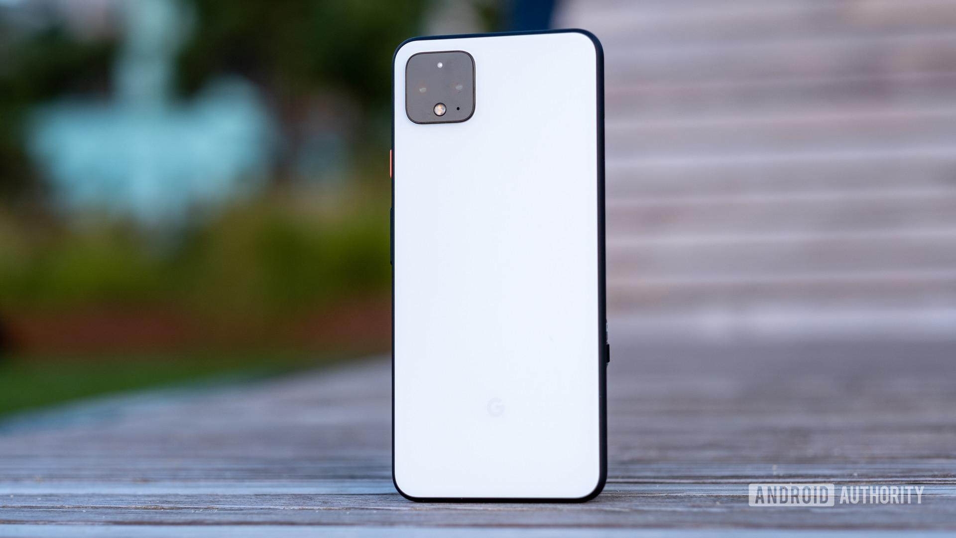 device's back panel on slight angle 18