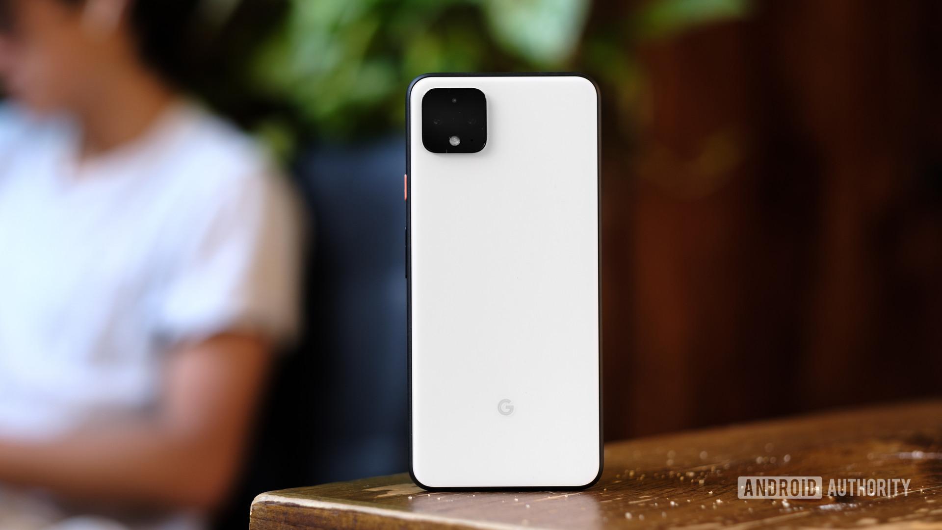 Google Pixel 4 XL back panel on table 1