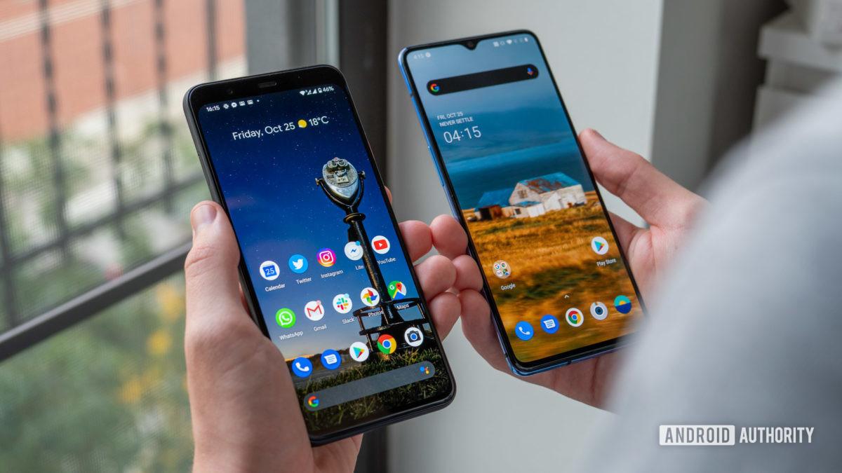 https://cdn57.androidauthority.net/wp-content/uploads/2019/10/Google-Pixel-4-XL-vs-OnePlus-7T-home-screen-in-hand-1200x675.jpg