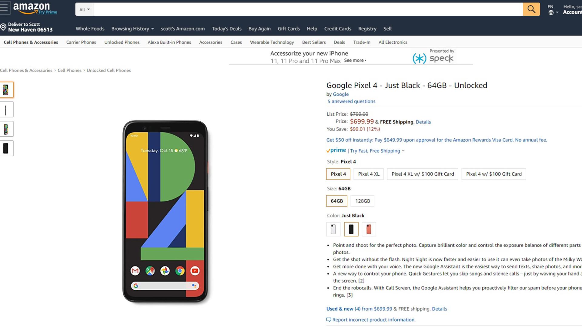 Google Pixel 4 discount