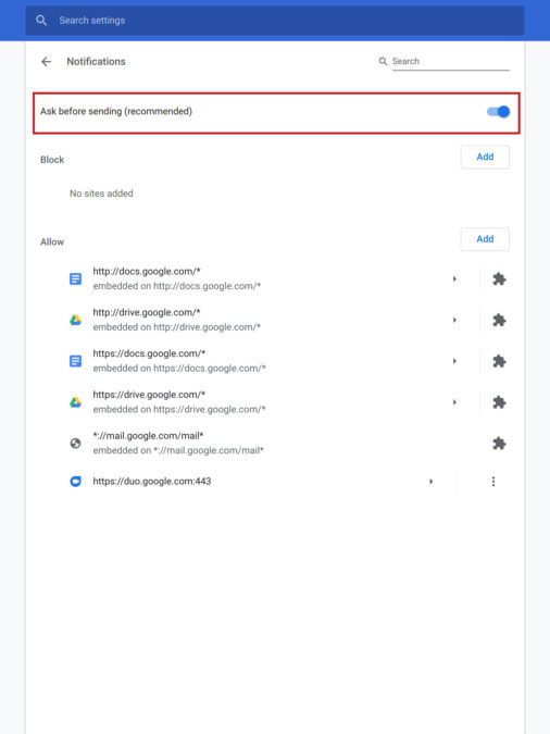 How to disable Chrome Notifications 4
