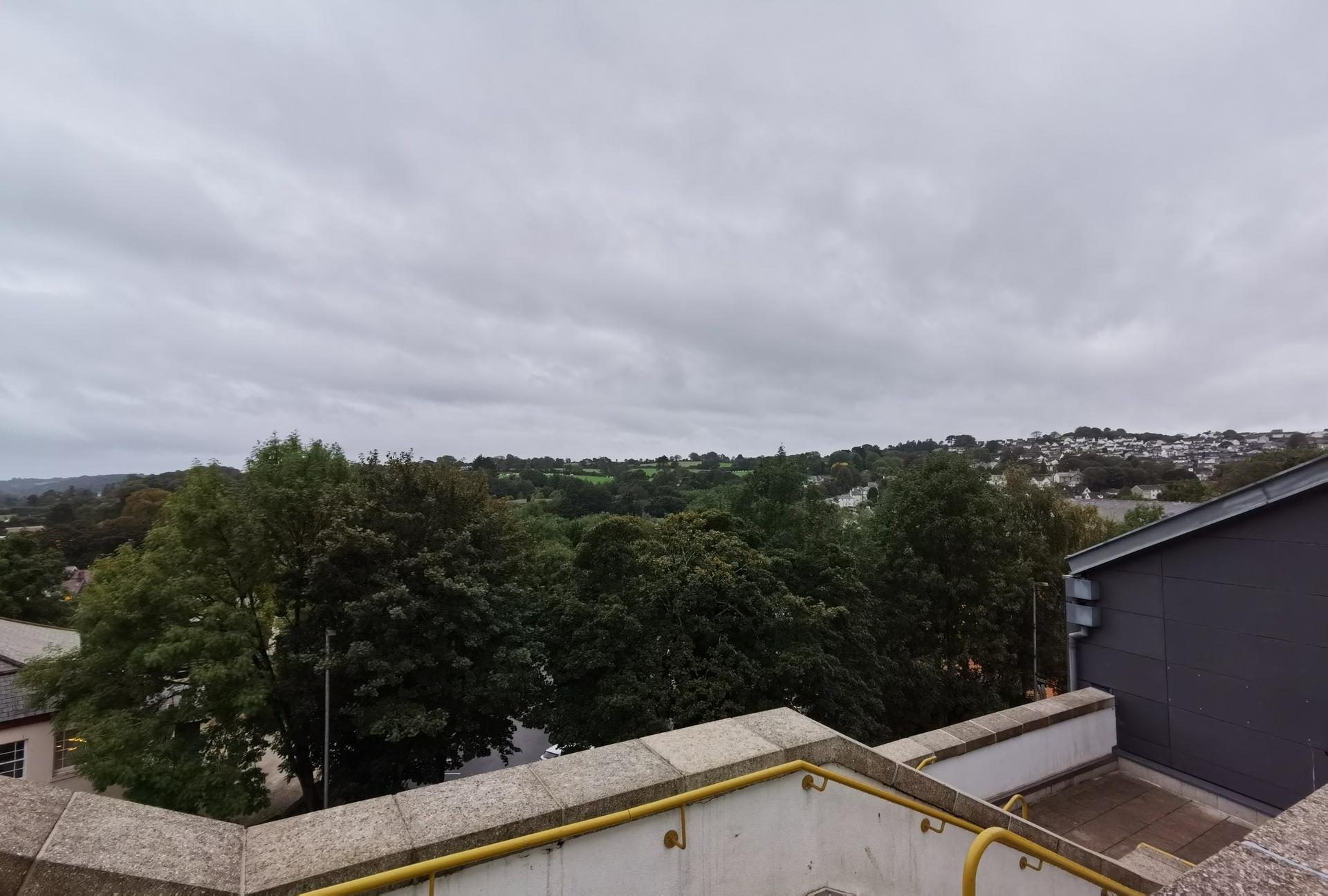 Huawei Mate 30 Pro Camera test HDR shot overlooking dark trees