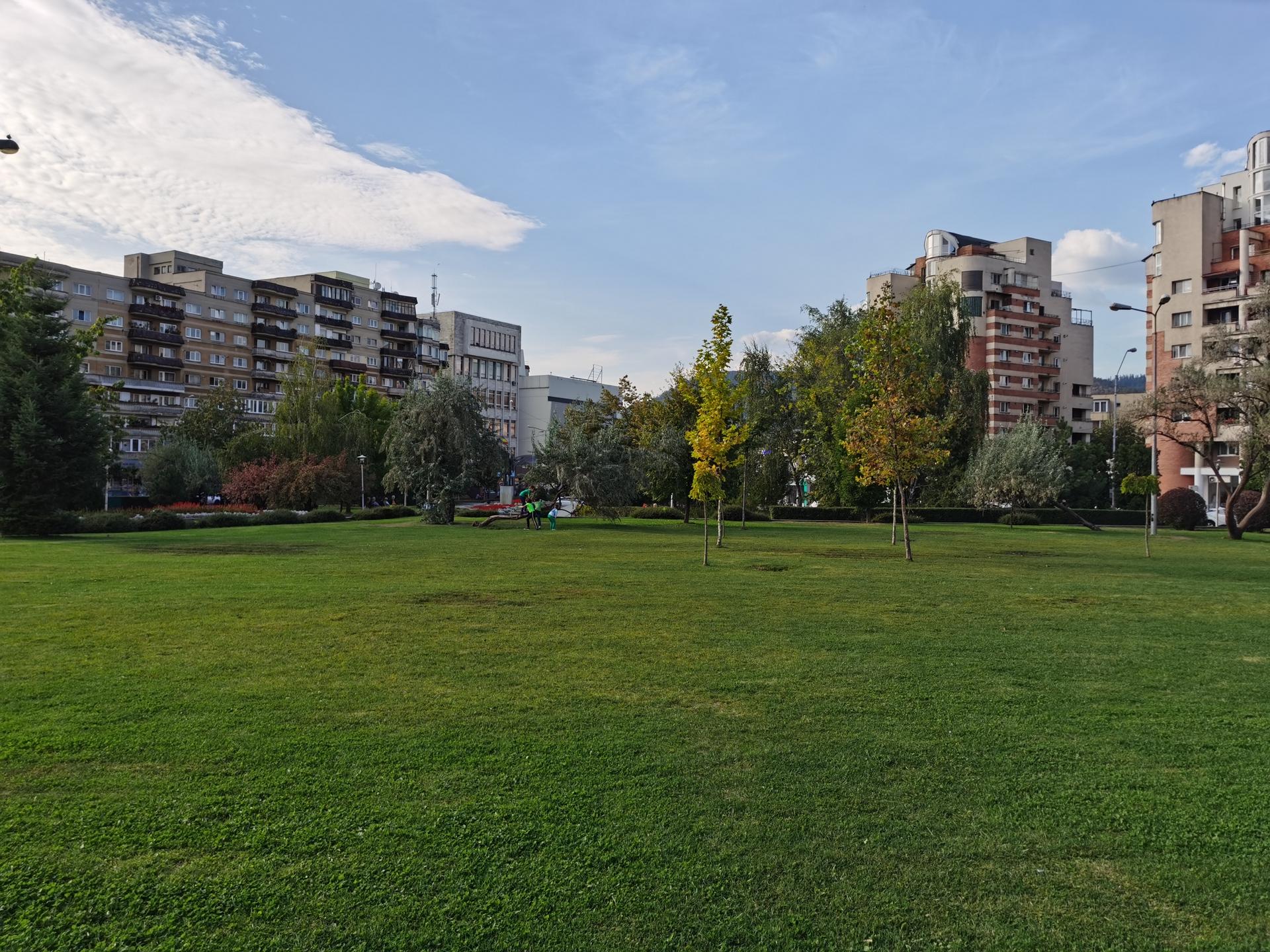 Huawei Mate 30 Pro Camera test Landcape shot of park in sunlight