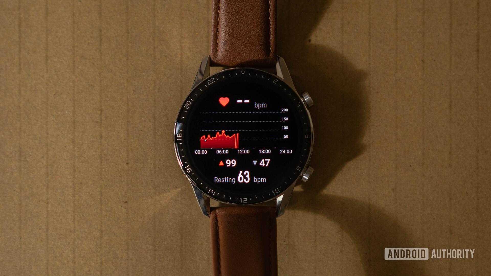 Huawei Watch GT 2 Heart rate analysis