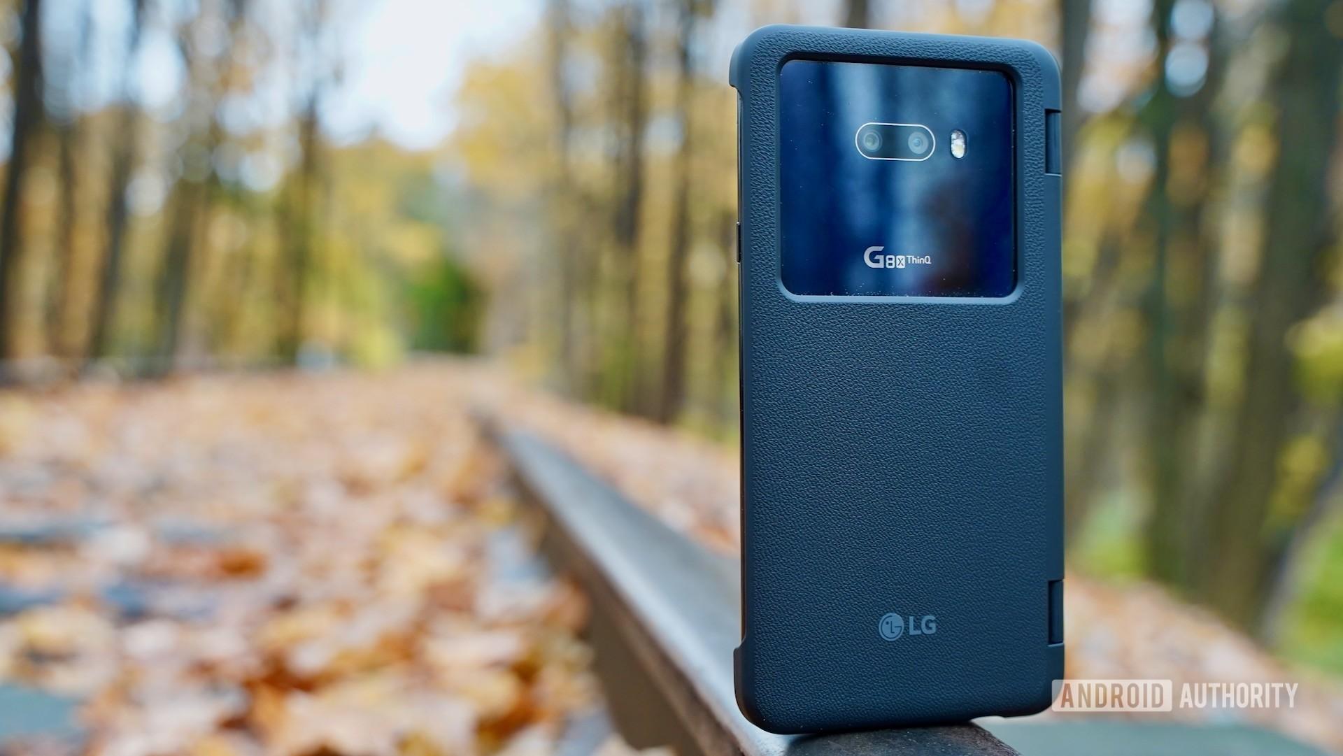 LG G8X ThinQ Review rear on tracks