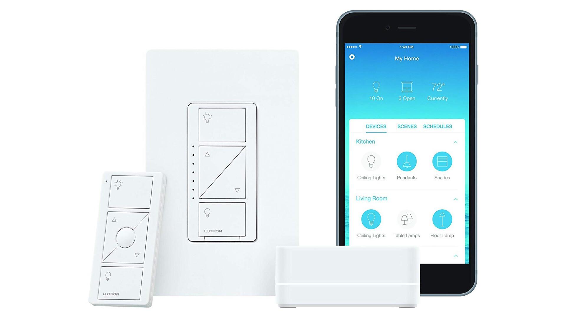 Lutron Caseta Wireless Smart Lighting Dimmer Switch homekit accessory