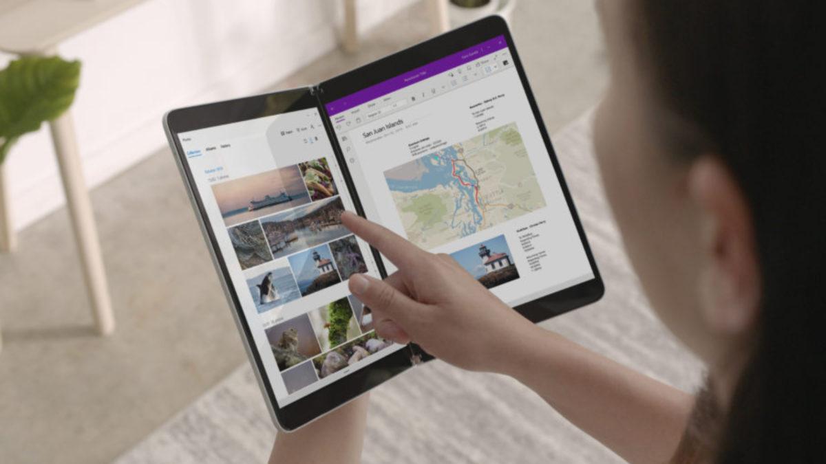 Microsoft Surface Neo unfolded