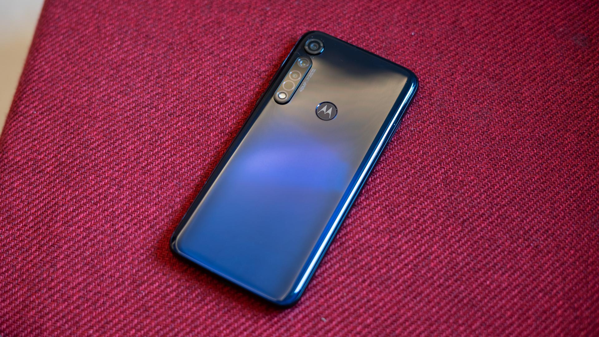 Moto G8 Plus showing rear panel