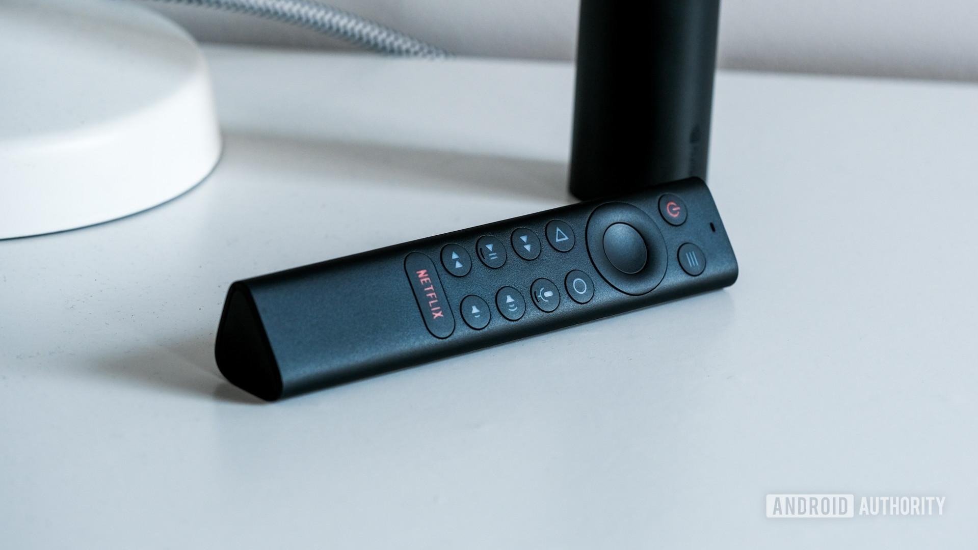 NVIDA Shield TV 2019 remote control on table