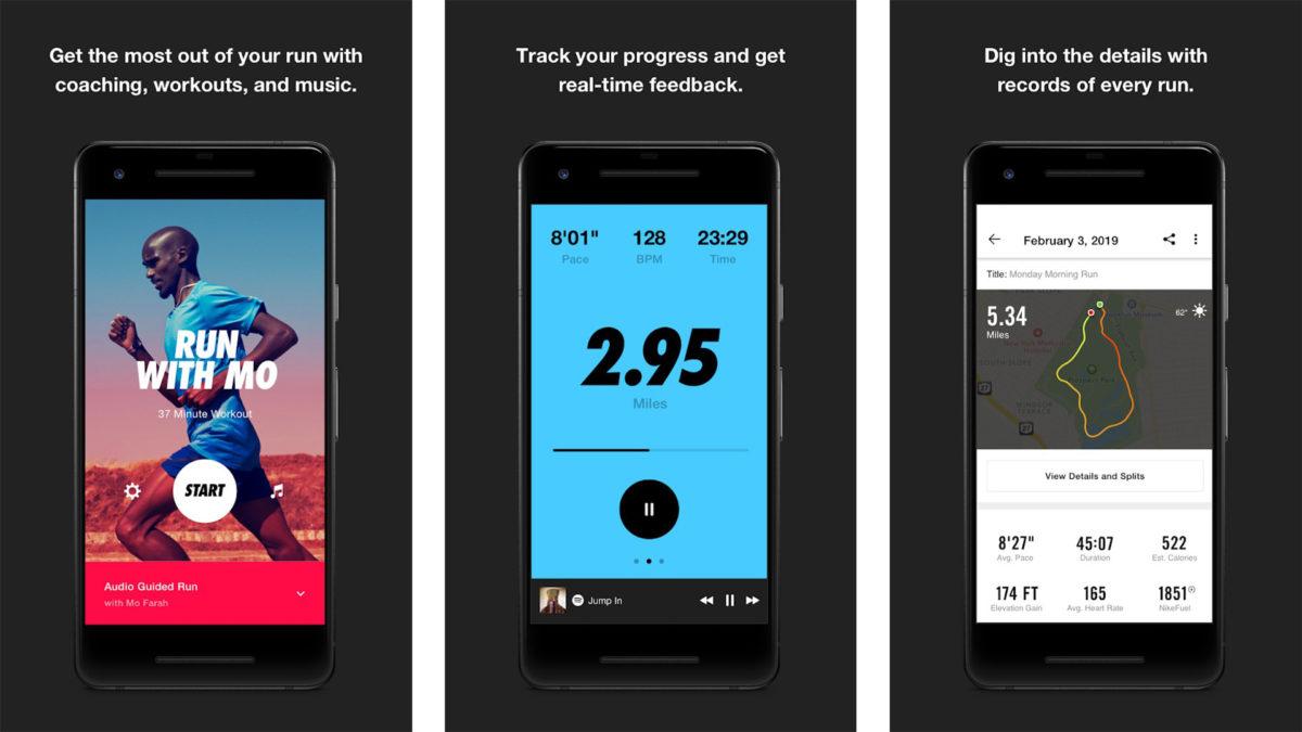Nike Run Club screenshot 2020