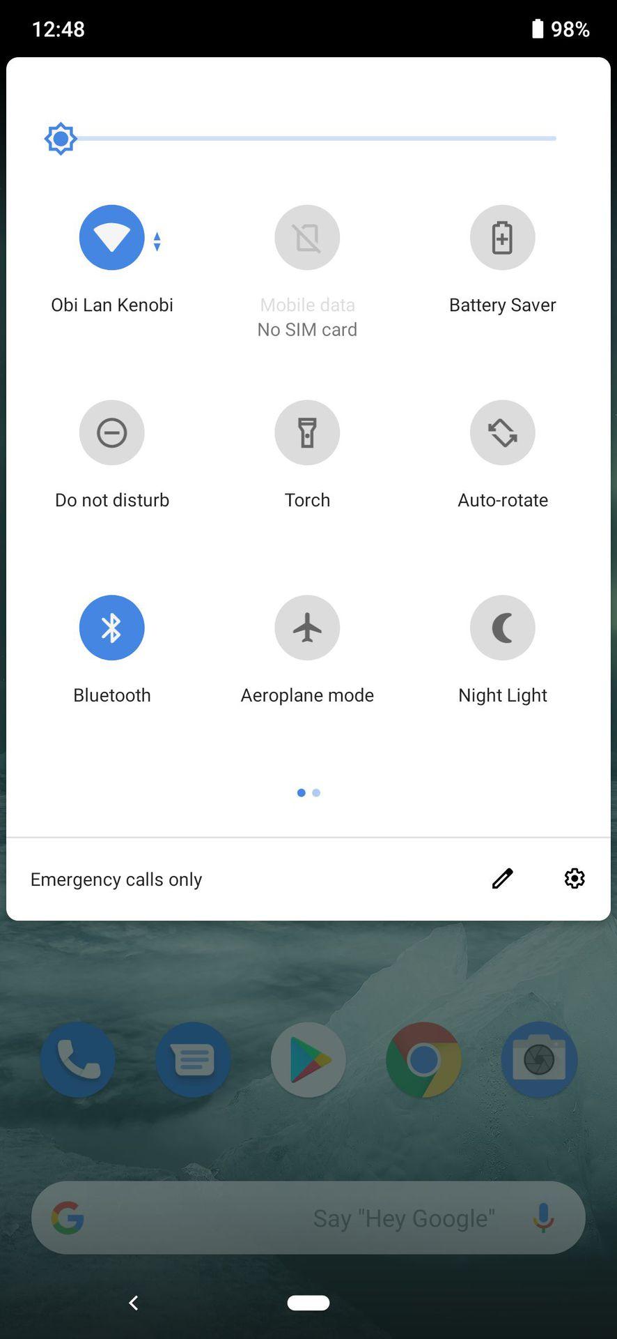 Nokia 7.2 notification shade
