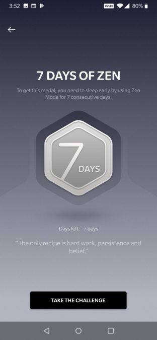 OnePlus zen mode 7 day challenge