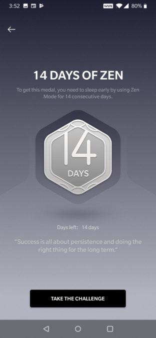 Oneplus zen mode 14 day challenge 1