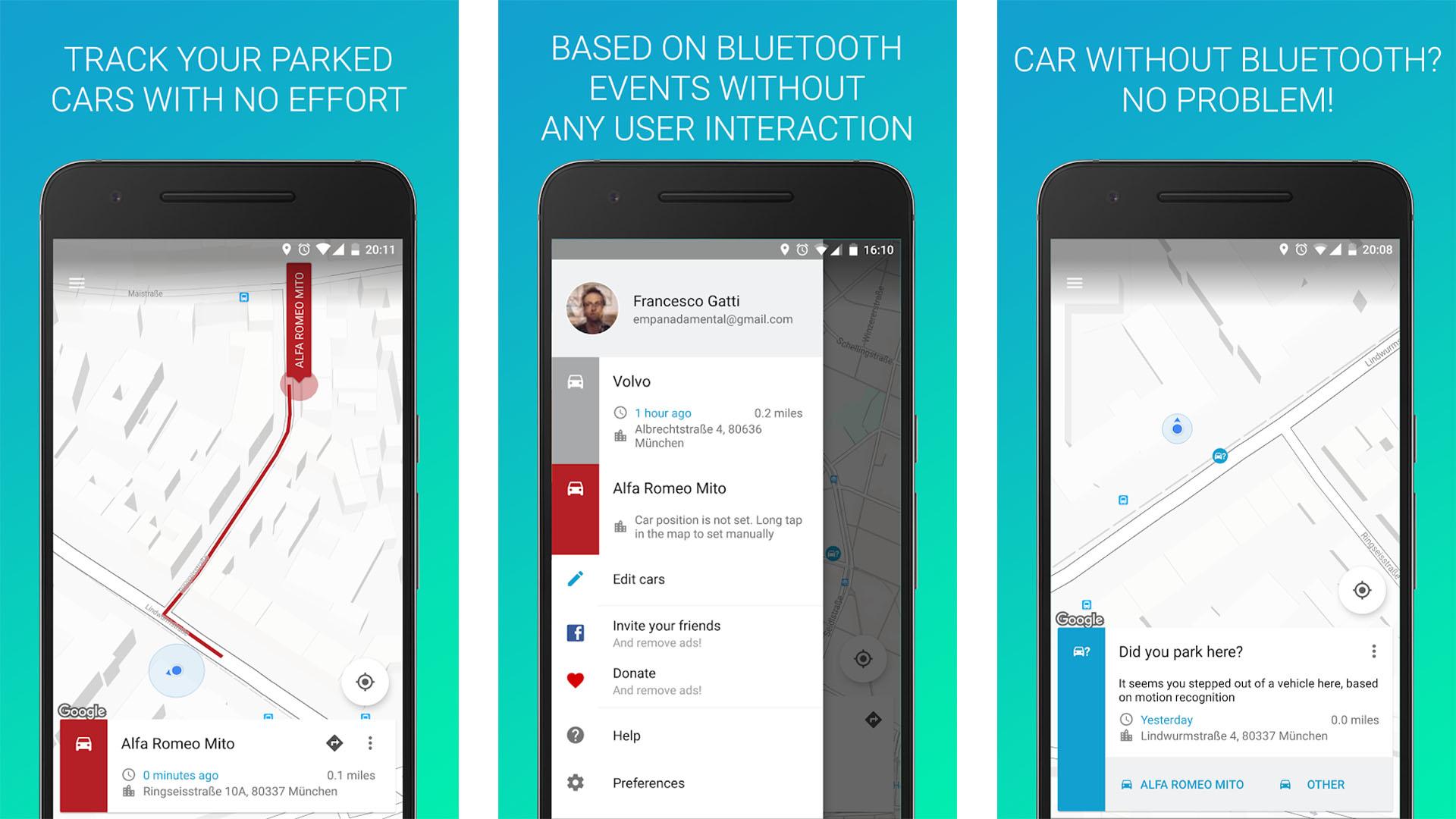 Parkify screenshot for the best parking apps list