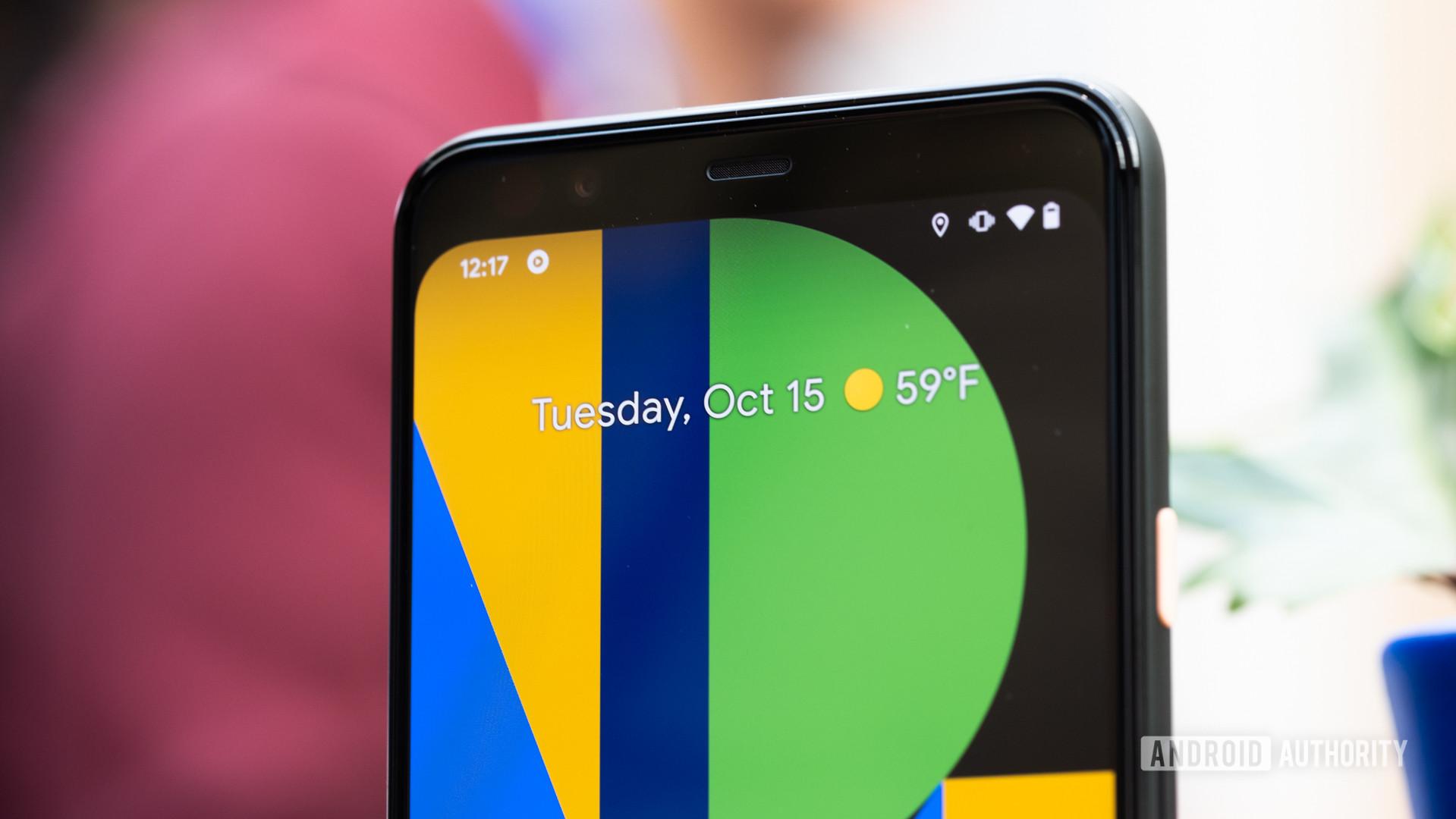 Pixel 4 XL screen macro 1