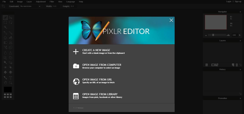 Pixlr Editor screenshot