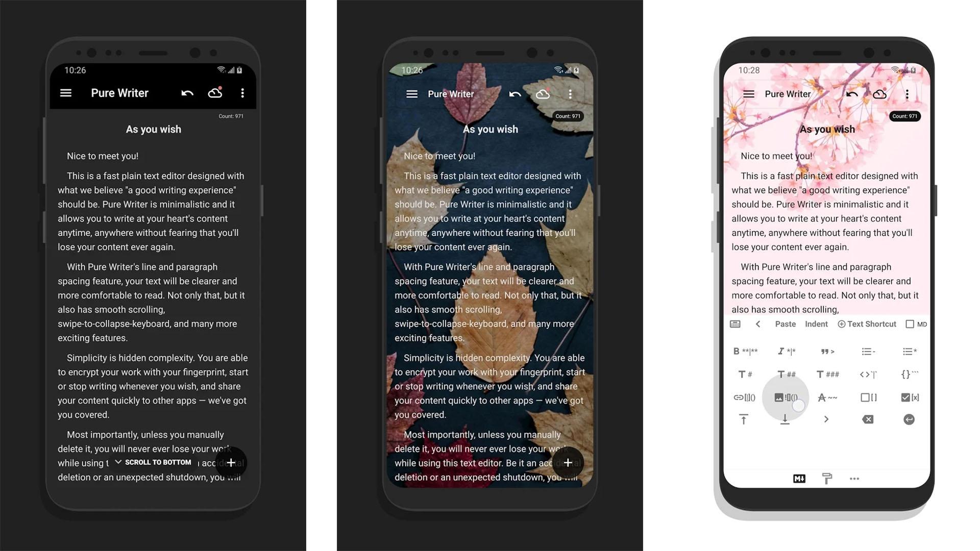 Pure Writer screenshot 2020