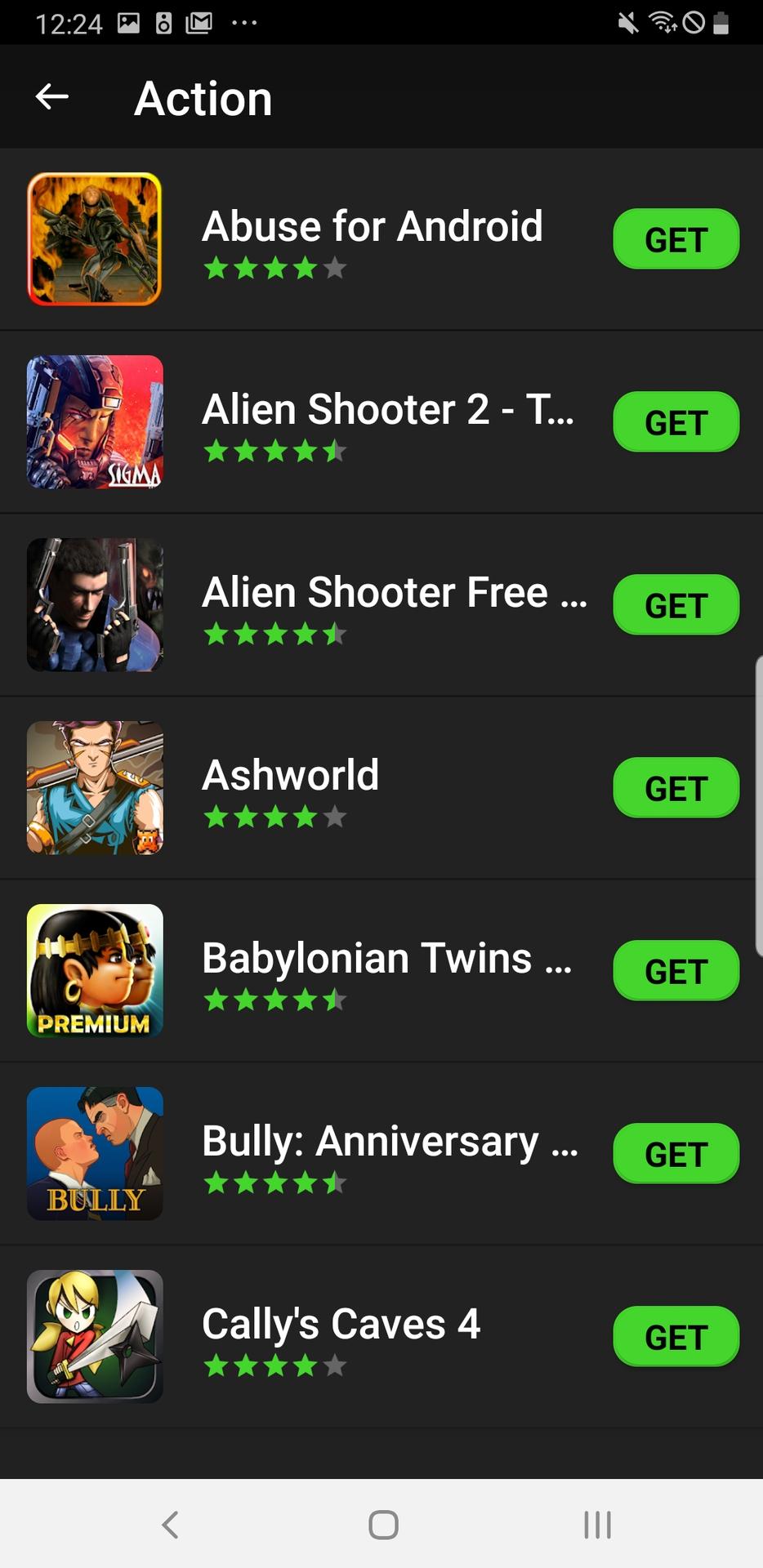 Razer Gamepad app action games list