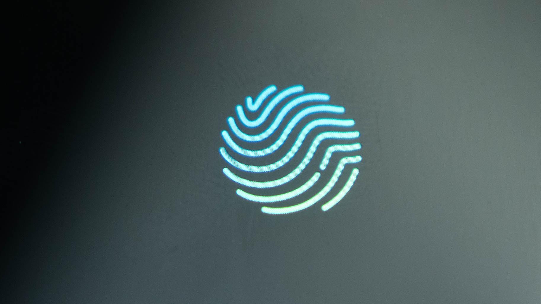Realme X2 Pro in display fingerprint scanner macro close up 1