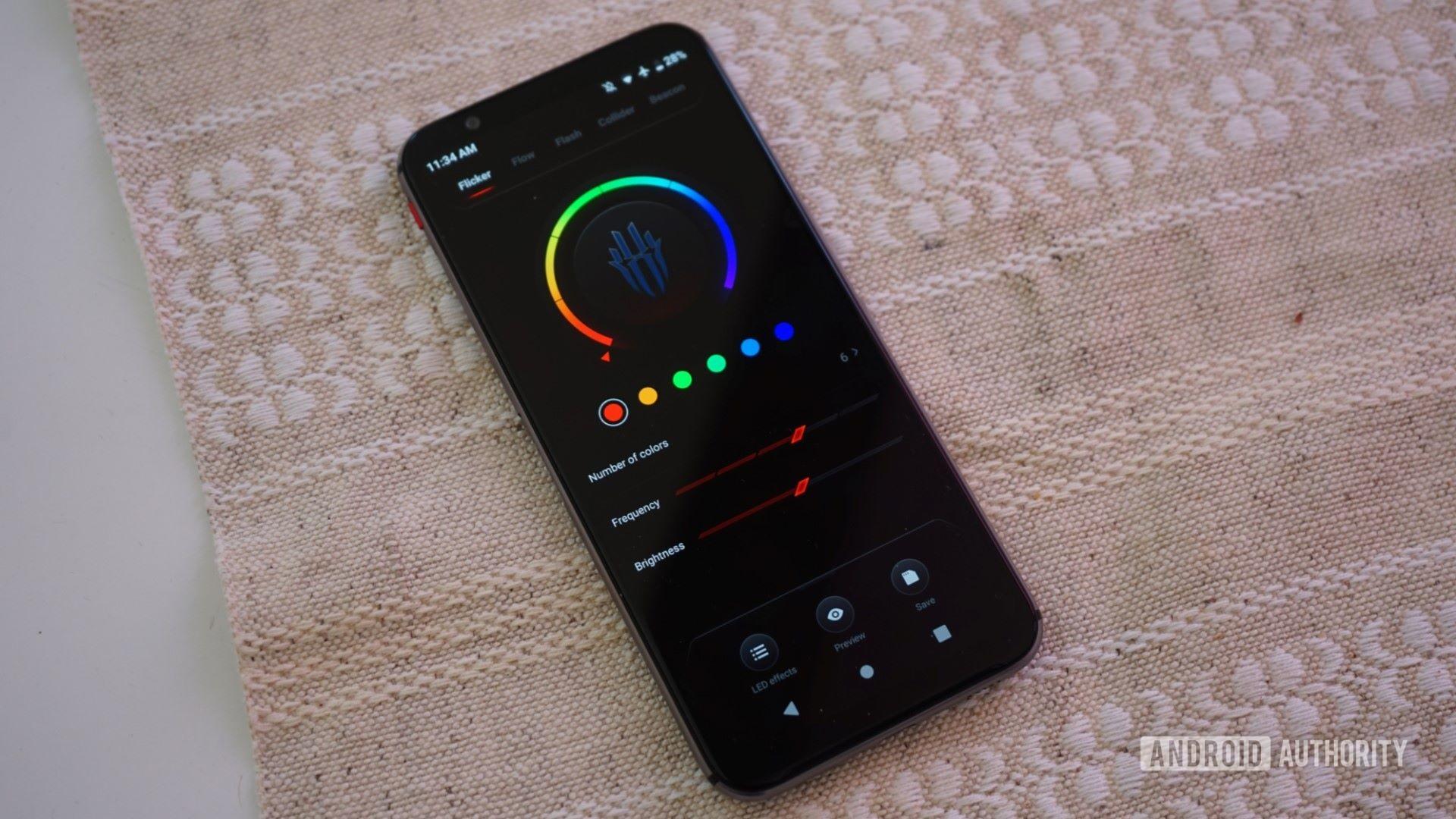Red Magic 3S LED strip control app 16x9