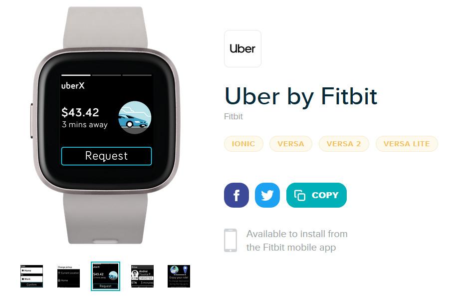 Uber Fitbit