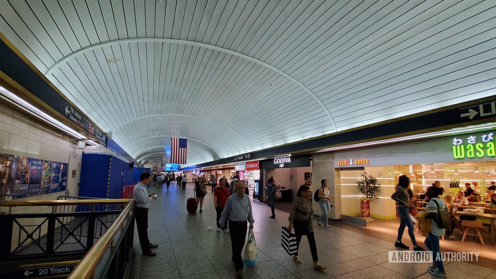 Wide angle penn station
