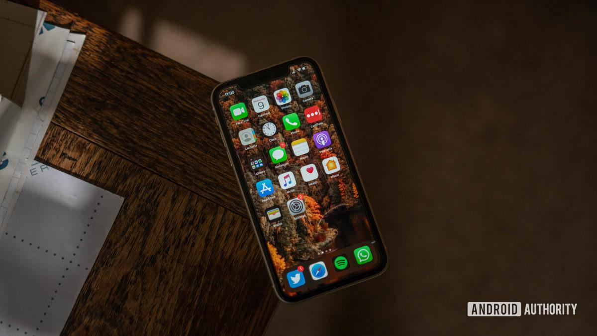 màn hình iphone 11 góc cạnh