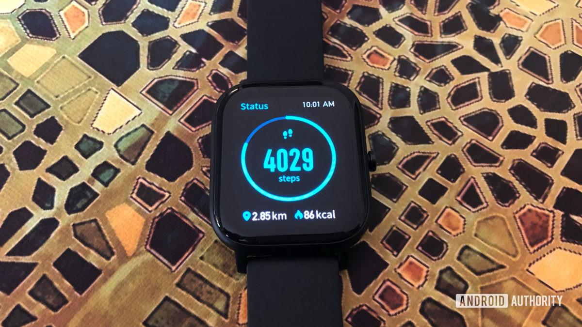 Amazfit GTS Step tracking