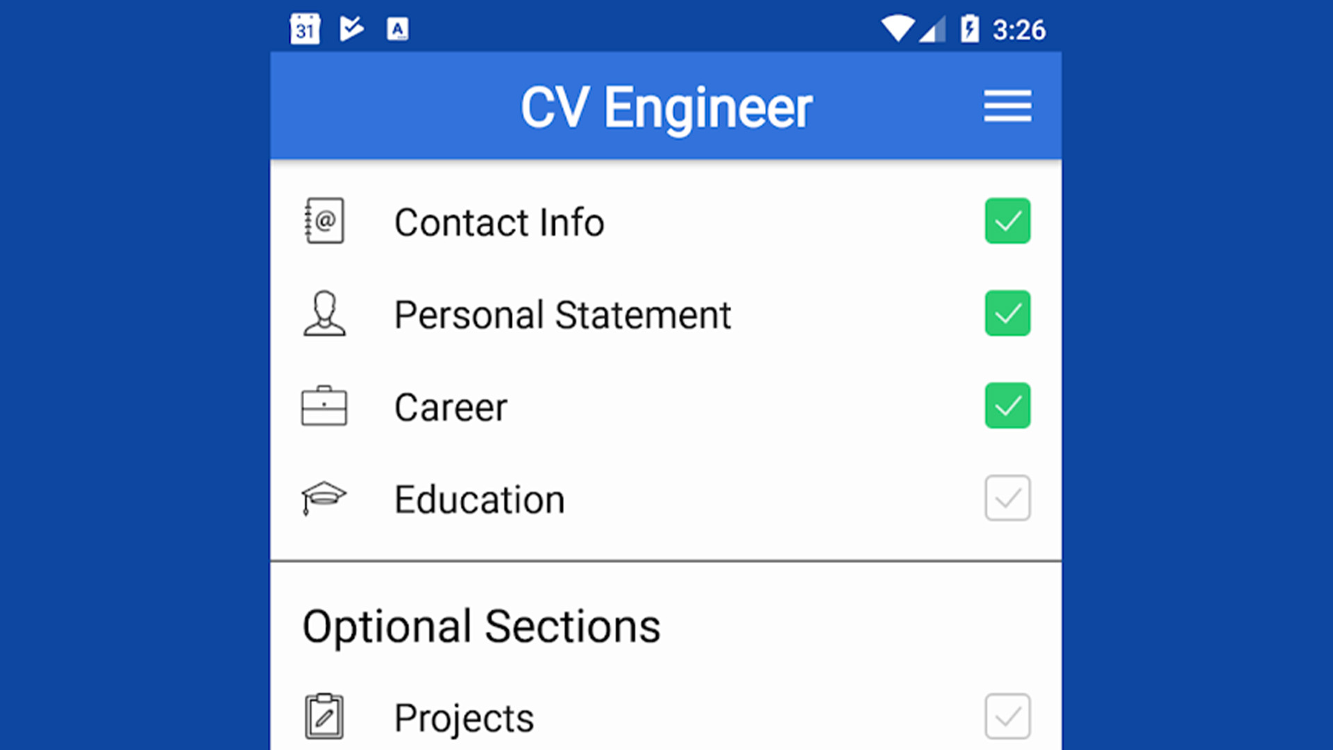 CV Engineer best resume apps for android