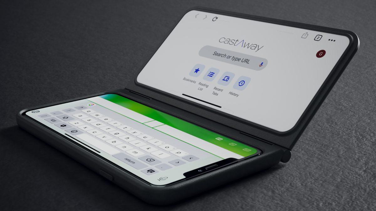 CastAway dual screen phone case laptop mode