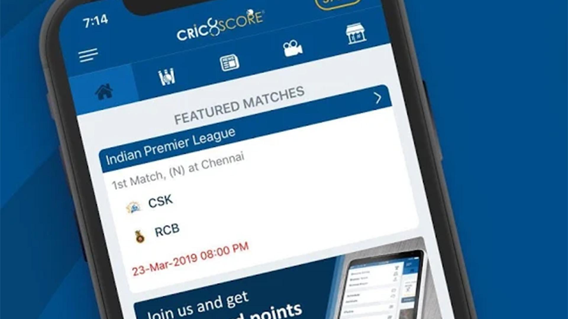 Cric8Score best cricket score apps