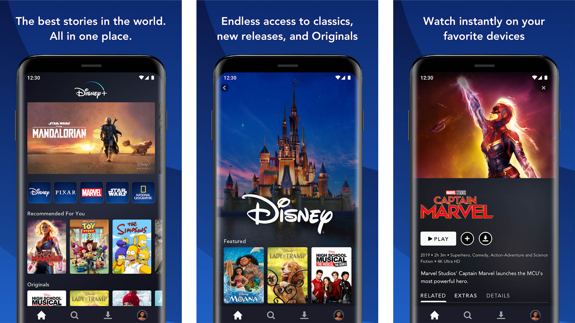 Disney Plus screenshot for the best new android apps