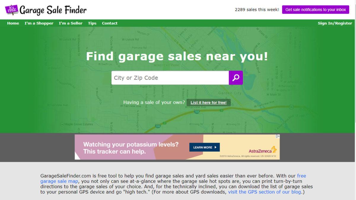 Garage Sale Finder screenshot